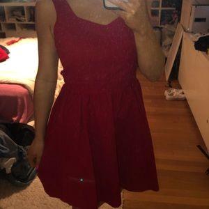 lauren james red dress NWT